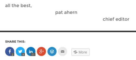 Pat Ahern Signature for Google Authorship Article